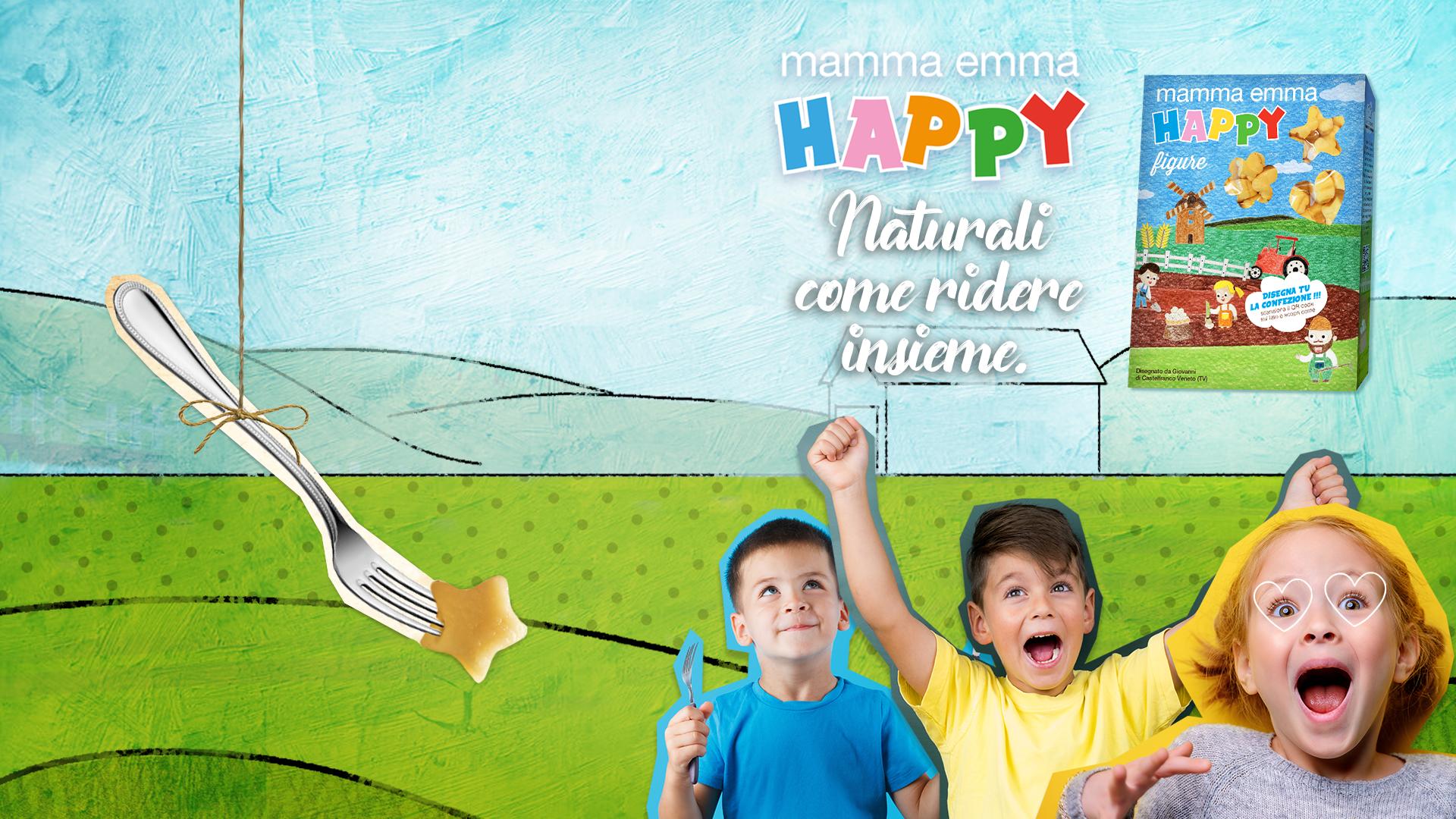 mamma emma HAPPY - campagna digital lancio nuova linea di gnocchi dedicati ai bambini